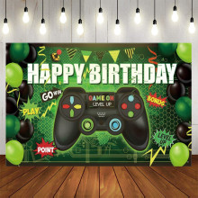 Hot Video Electronic Game Photography Backgrounds Vinyl Cloth Photo Shootings Backdrops for Baby Birthday Party Photo Studio