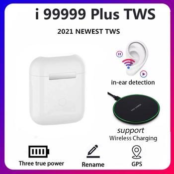 Oryginalny I99999 Plus TWS bezprzewodowe słuchawki zmień nazwę Bluetooth 5 0 Super słuchawki douszne PK I9000 Pro I90000 Max słuchawki douszne tanie i dobre opinie PANFU Technologia hybrydowa CN (pochodzenie) wireless Zwykłe słuchawki Etui ładujące