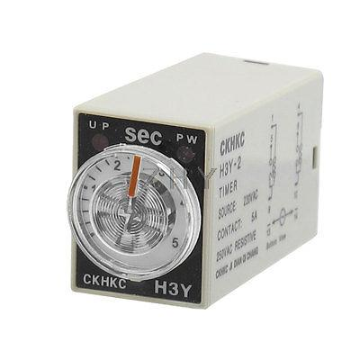 H3Y 2 AC 220V DPDT 0 5 Seconds 5S 8 Pins Power on Time Delay Relay|Relays| |  - title=