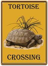 Не черепаха пересечения олова знак Ретро винтажный металлический
