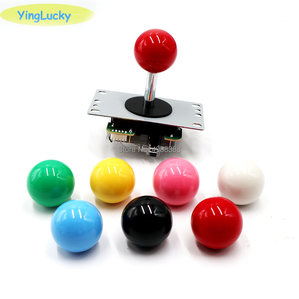 yinglucky Arcade Classic  Joystick 4 way 5pin DIY Game Joystick Red Ball Fighting Stick Replacement Parts For Game Arcade  jamma