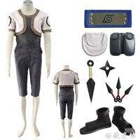 Hot Sell NARUTO Nara Shikamaru Cosplay Costumes Hallowmas Party Clothing Combat Clothes +Grid Underwear+ Accessories +Shoes