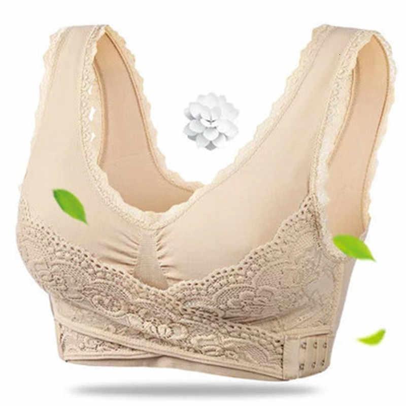 חדש נשים תחתונים סקסי הלבשה תחתונה תחרה מוצק צבע צלב צד אבזם אלחוטי לדחוף את לנשימה שינה ספורט חזיית Bralette S-3XL
