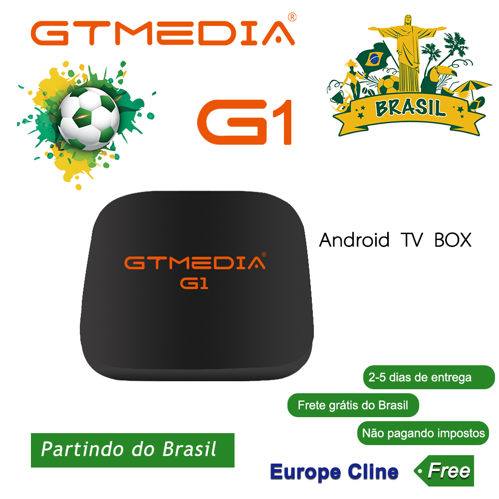GTMEDIA G1 Android 7.1.2 Smart TV BOX 1G DDR3 8G EMMC ROM Set Top Box 4K 3D H.265 Wifi Network IPTV M3U ACM Receptor From Brazil