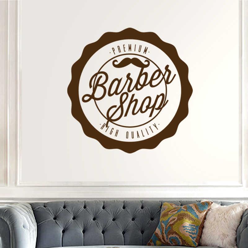Barbershop, pegatina de pan, vinilo personalizado, Arte de la pared Decoración, decoración de ventanas, afeitadoras de corte de pelo, pegatinas de barbería de vidrio para tienda