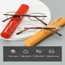 Очки для чтения унисекс портативные очки металлические с пружинными