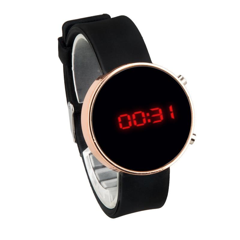 Led Digital Wrist Watches Men Women Ultra Thin Bracelet Sports Silicone Wrist Watches Unisex Clock Relogio Masculino