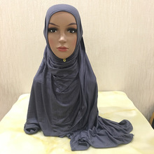 Fashion Glitter Jersey Scarf Wrap Solid Color Hijabs For Wom
