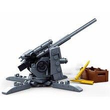 2021 guerra mundial 2 ww2 exército militar soldado cidade polícia swat 88mm arma anti-tanque modelo blocos de construção tijolos crianças brinquedos presente