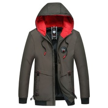 Mens winter jacket cotton thicker cap mens clothes jackets and coats