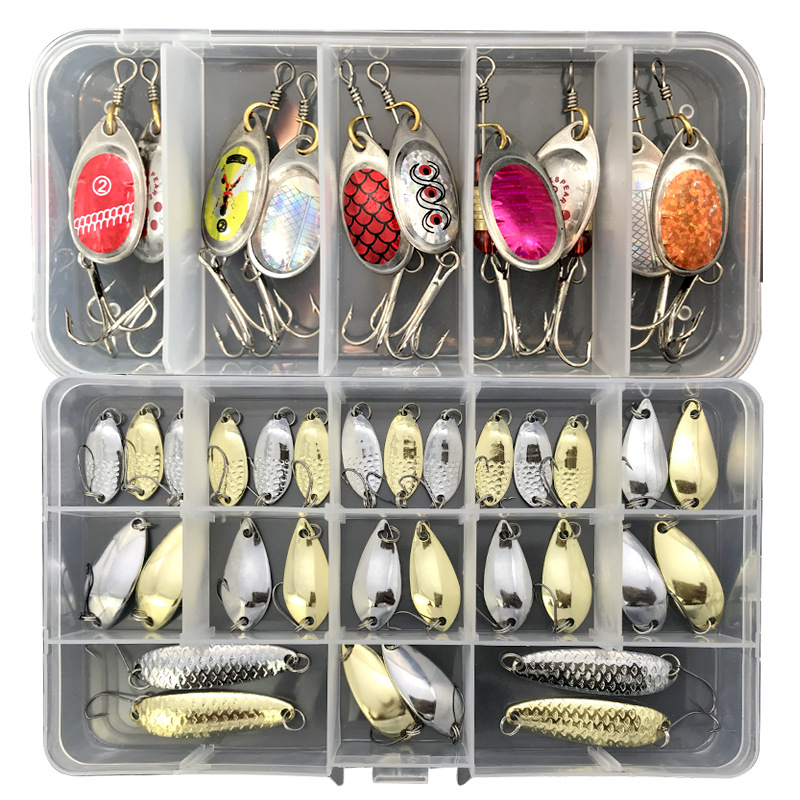 Hot Sale Brilliant Fishing Lure Kit Micro Mini Spoons Sets Of Sequins Spinners Hard Metal Jig For Fresh And Sea Water Pesca Isca