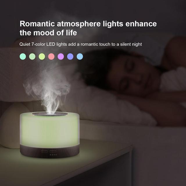 500ML Aromatherapy Diffuser Xiomi Air Humidifier with LED Light Home Room Ultrasonic Cool Mist Aroma Essential Oil Diffuser 2