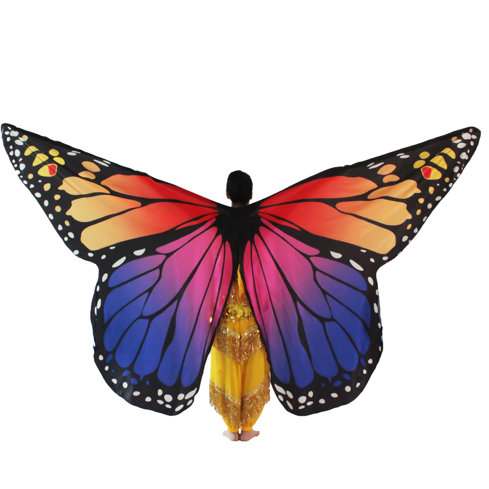 Belly Dance Costumes Butterfly Wings Women Oriental Bellydance Suit Girls Dancing Clothes Eastern Wear Kid Isis Wings Sticks Bag