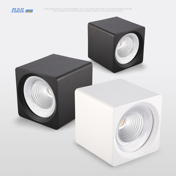Square dimmable COB LED downlight 7W 9W 12W 15W 20W 25W LED ceiling spotlight AC85 ~ 265V LED surface light indoor lighting
