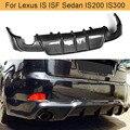 Задний бампер из углеродного волокна  диффузор для Lexus IS ISF Sedan 4 двери IS200T IS250 IS300 IS350 13-16