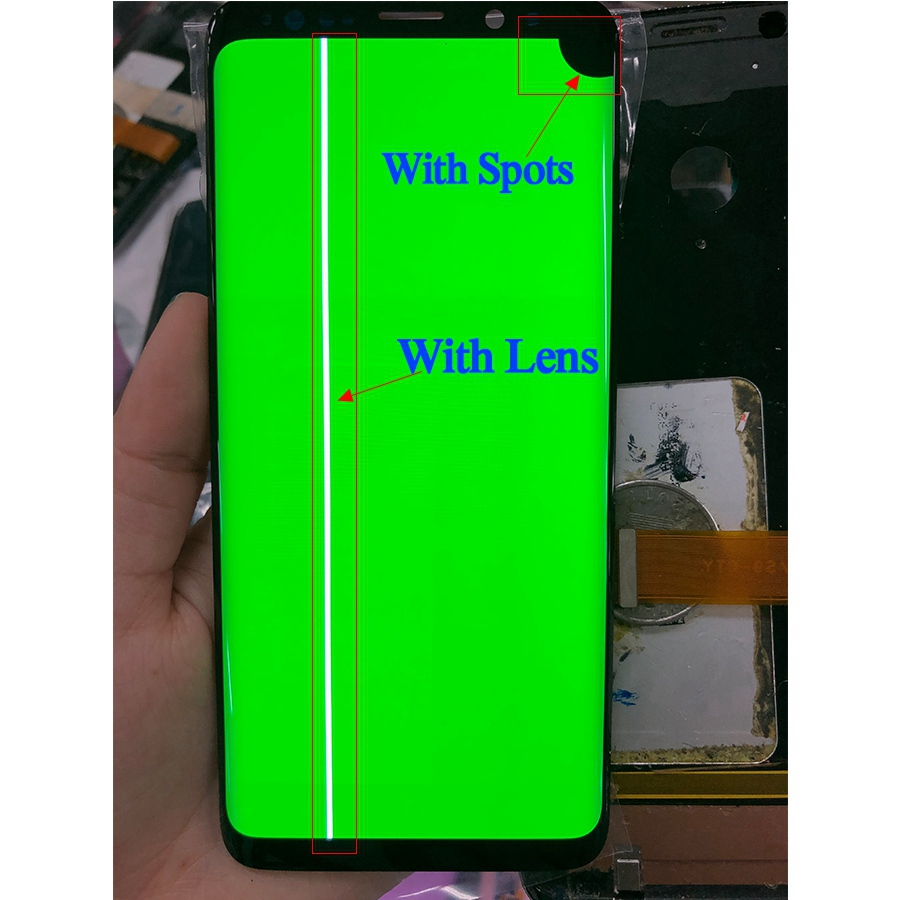 For <font><b>Samsung</b></font> S8 LCD Display Touch S8 Plus LCD S8 Display For <font><b>Samsung</b></font> <font><b>S9</b></font> S9Plus LCD band line display dead pixels defective <font><b>screen</b></font> image