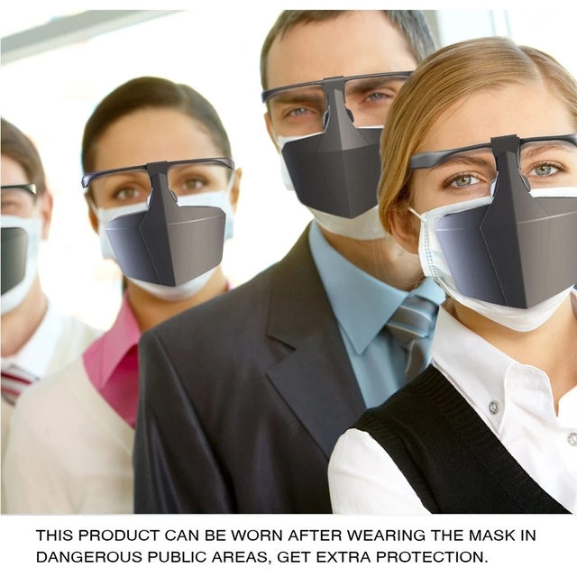 Reusable Washable Against Droplets Anti-fog Plastic FaceMask Protective FaceMask Anti-Saliva Isolation Face Shield Mouth 2