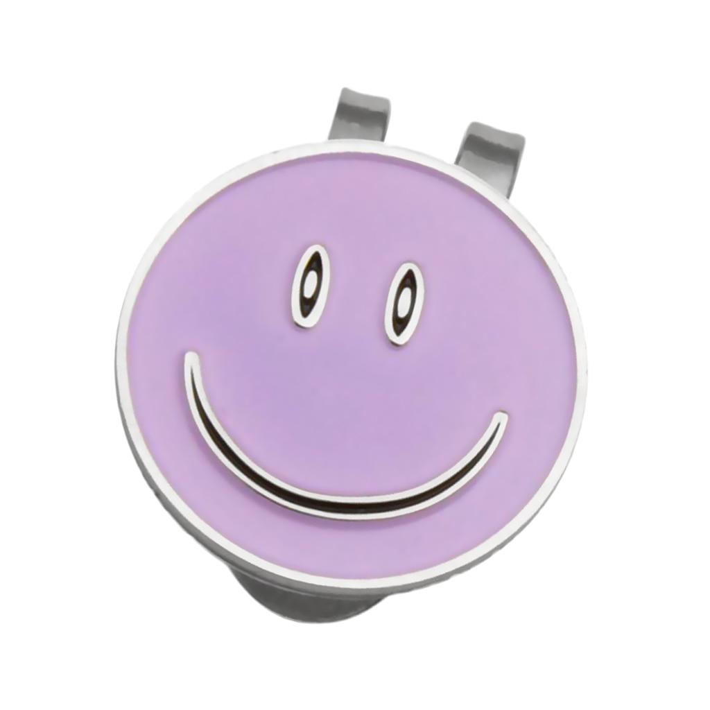 High-quality Alloy Smile Face Magnet Hat Visor Clip Golf Ball Marker Golfer Presents