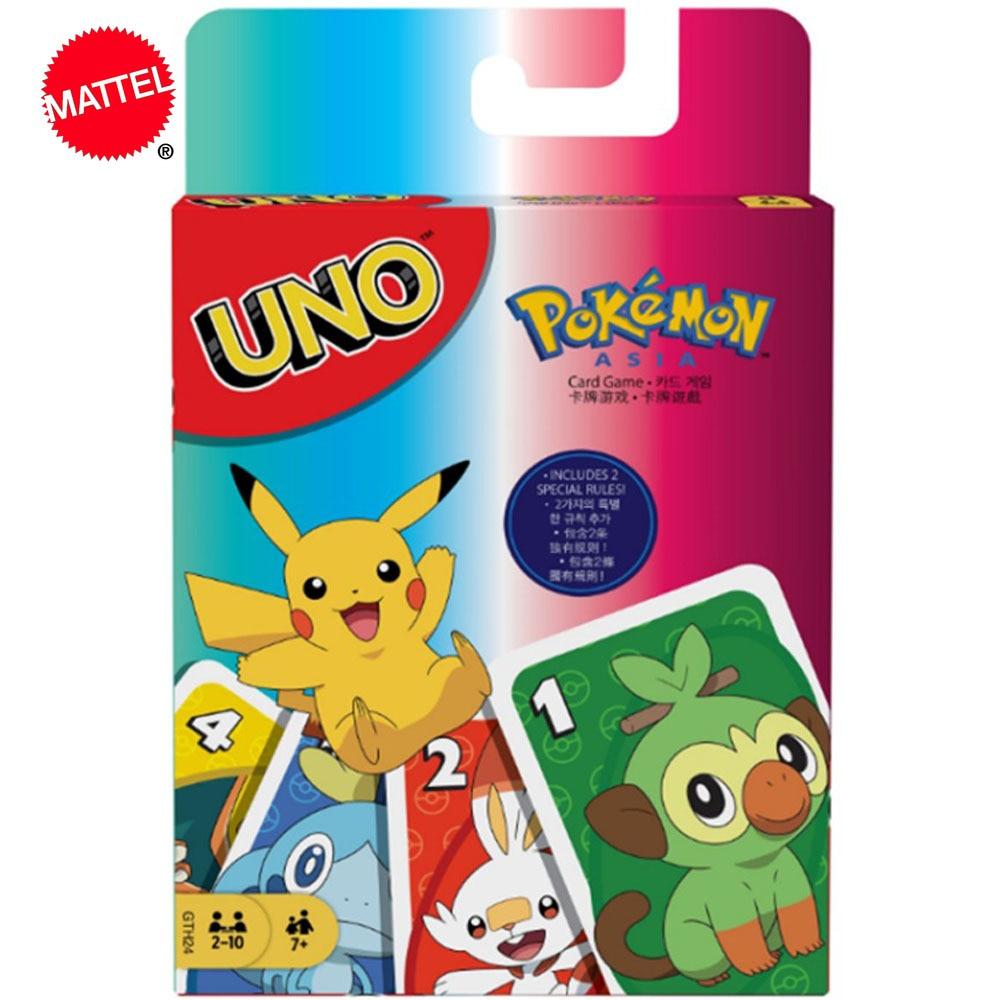 Mattel Games UNO: Покемон меч и щит карточная игра Семейные развлечения Веселые покерные детские игрушки игральные карты
