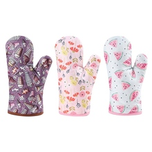 Microwave Oven Glove Polyester Insulated Baking Heat Resistant Gloves Mitts Terylene Non-slip Cute Kitchen Tool
