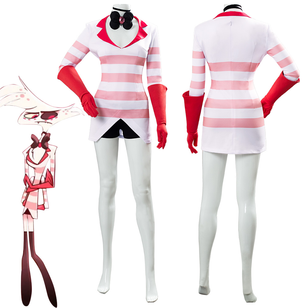 Hazbin Cosplay Hotel Dust Angel Cosplay Costume Uniform Women Girls Halloween Carnival Cosplay Costumes Custom Made