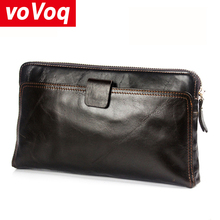 Genuine Leather Male Long Wallet Casual Handbags Men's Busin