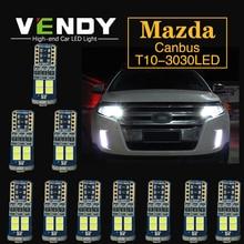 10pcs W5W T10 Car LED Clearance Lights Bulb Canbus Lamp For Mazda 6 gg gh 5 3 8 CX-5 CX5 rx8 RX-8 cx 7 323 MX-5 Miata CX-9 CX-3 guang dian 4x led canbus for ma z da 2 3 6 323 5 626 axela cx 5 mx5 demio cx 7 rx8 t10 w5w 2835 chip clearance lights width lamp