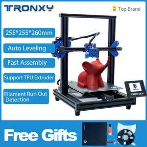 Image 2 - Tronxy XY 2 Pro 3D Bộ Máy In 255*255*260Mm Lắp Ráp Nhanh Hỗ Trợ Tự Động San Bằng Sơ Yếu Lý Lịch In Hình Dây Tóc chạy Ra Phát Hiện