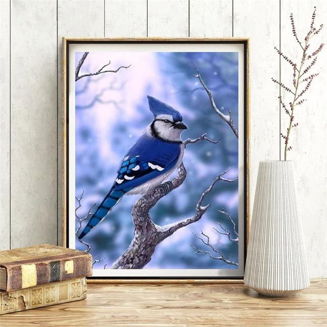 HUACAN DIY Diamond Painting Cross Stitch Bird 5D Embroidery Animal Mosaic Home Decor Diamond Art