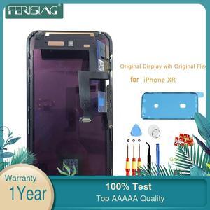 Image 1 - XR OEM จอแสดงผล LCD Flex สำหรับ Iphone XR หน้าจอ LCD โรงงานแผง Original TP Digitizer assembly