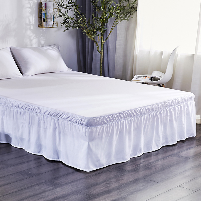Hotel Home Bed Skirt White Elastic Band Bed Skirt Without Surface Twin Full Queen King Size Bed Skirt 11 Colors Bedroom Decor