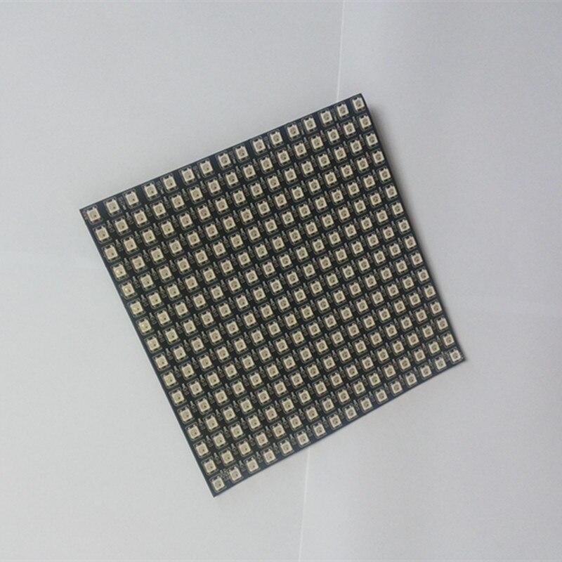 1 pièces/lot DC5V 16x16 Pixel WS2812B LED numérique Flexible individuellement adressable panneau lumineux 4
