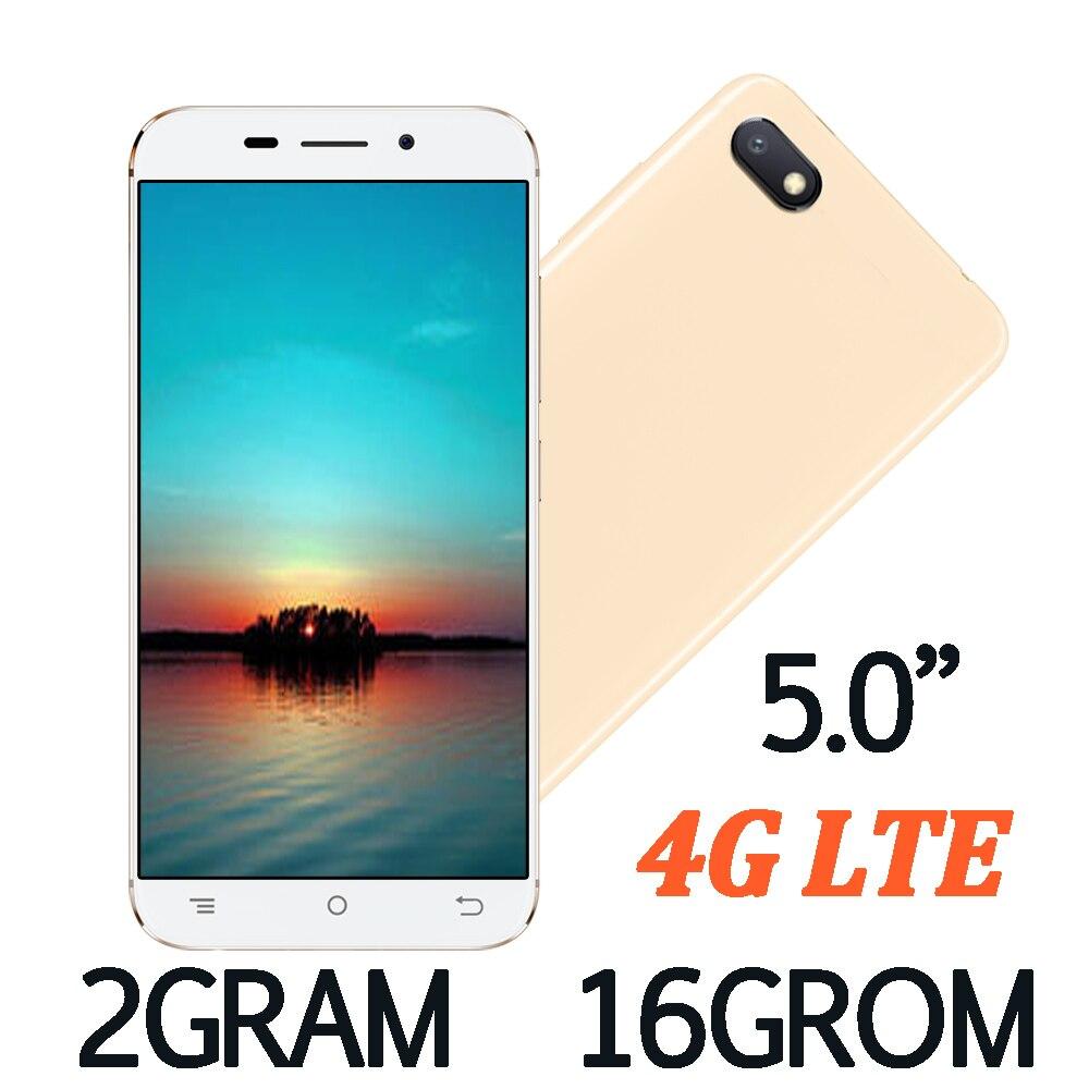 Мобильный телефон 2 Гб ОЗУ + 16 Гб ПЗУ 5,0 дюйма 4G LTE глобальная версия смартфоны 8A четырехъядерный 2 Мп + 5 Мп фронтальная/задняя Android 6,0 мобильные ...