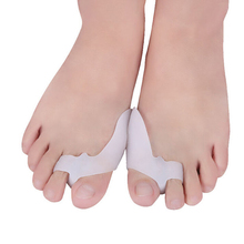 Insoles Velishy Toe-Separator Inserts Thumb-Valgus-Protector Hallux Fingers 1-Hole Silicone