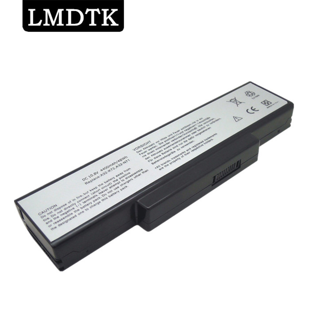 LMDTK New laptop <font><b>battery</b></font> For <font><b>ASUS</b></font> A72 K72 <font><b>K73</b></font> N71 N73 X77 Series Replace A32-K72 A32-N71 free shipping image