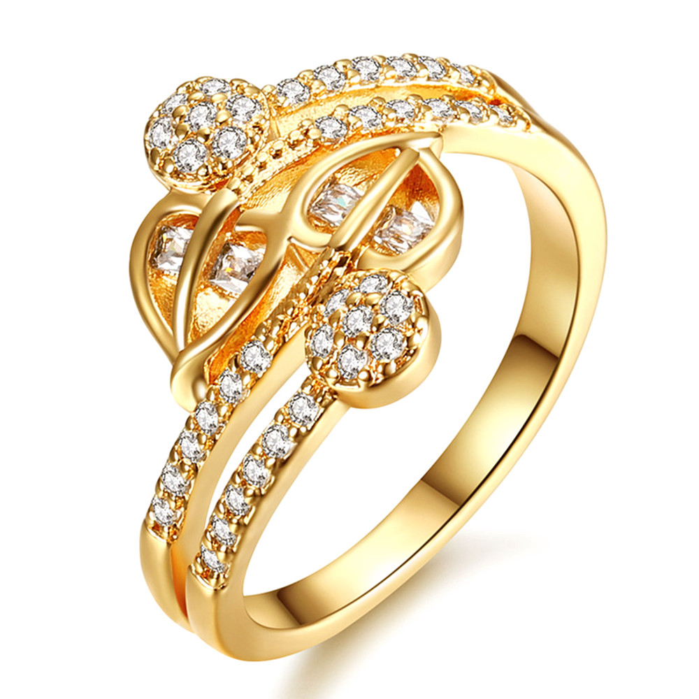 Luxury AAA Zircon Diamonds Rings For Women Femme 18k Gold Gemstones Anillos Fashion Indian Jewelry Middle East Bling Bijoux Gift