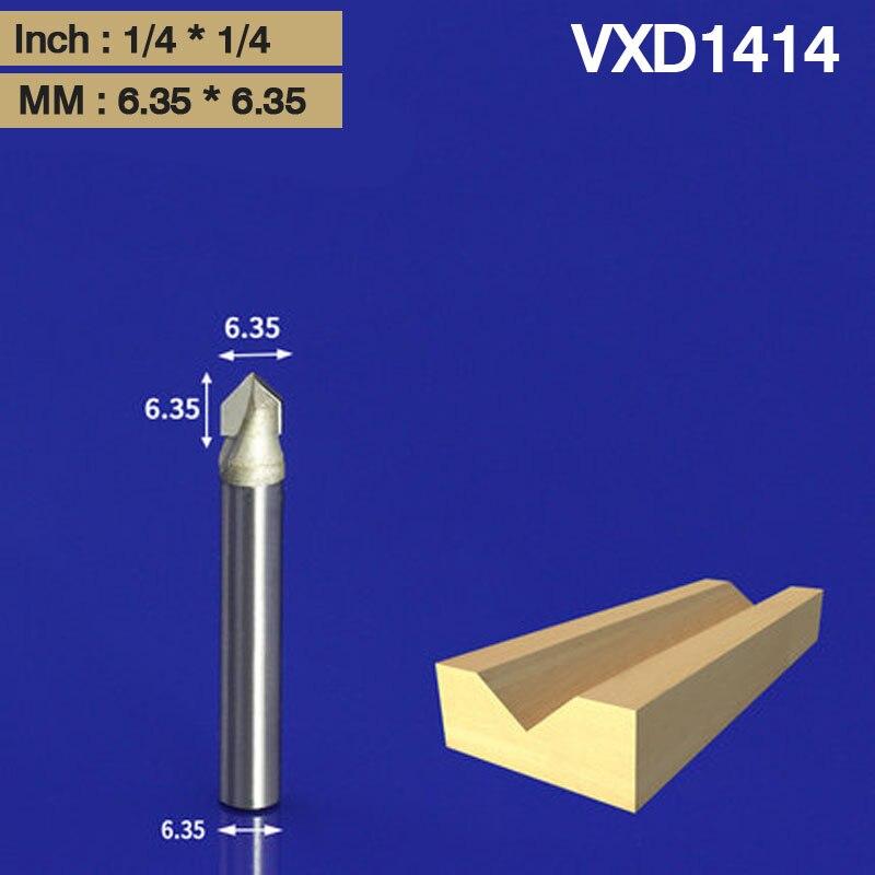 Router Bit 1//4 Shank 3//8 DIA 90 degrés V Type Fraise carbure pour bois