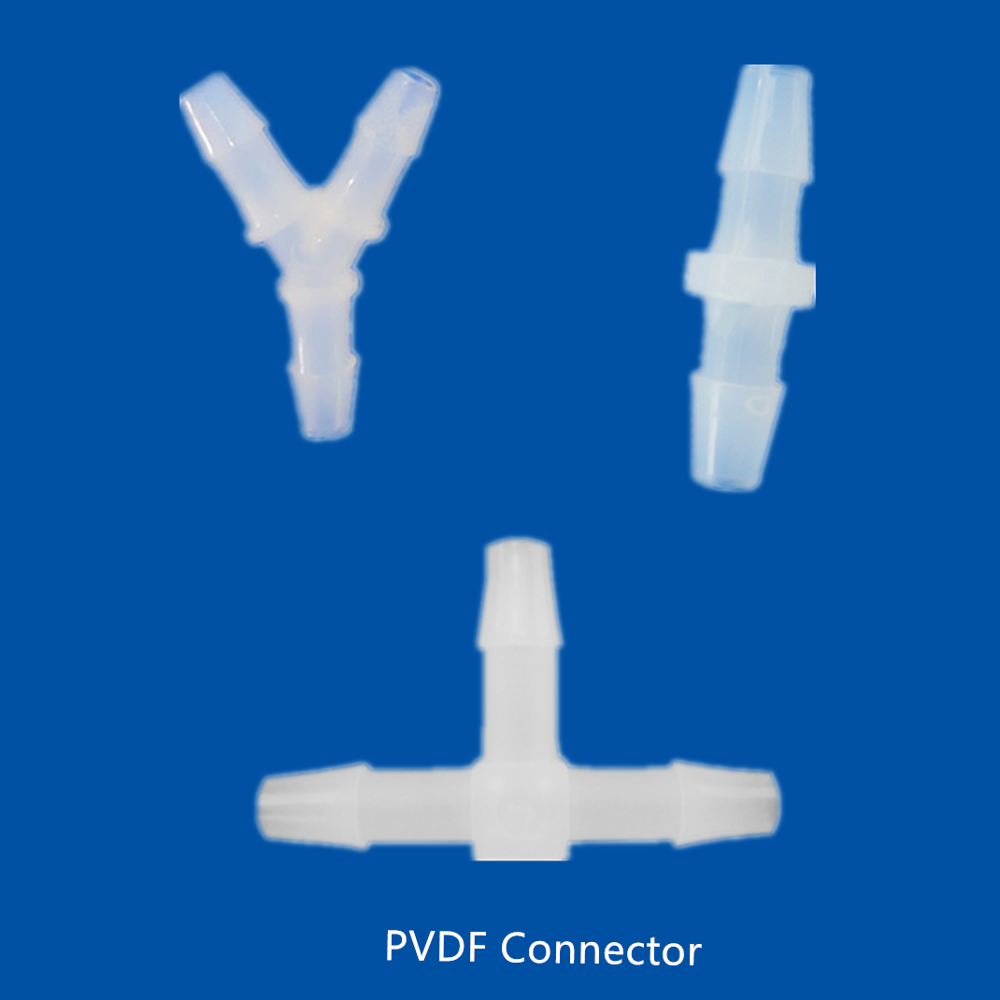 PVDF Barbed 2 Way Tubing Connector 3 Way Y Connector 4MM Silicone Hose Fitting 3/16
