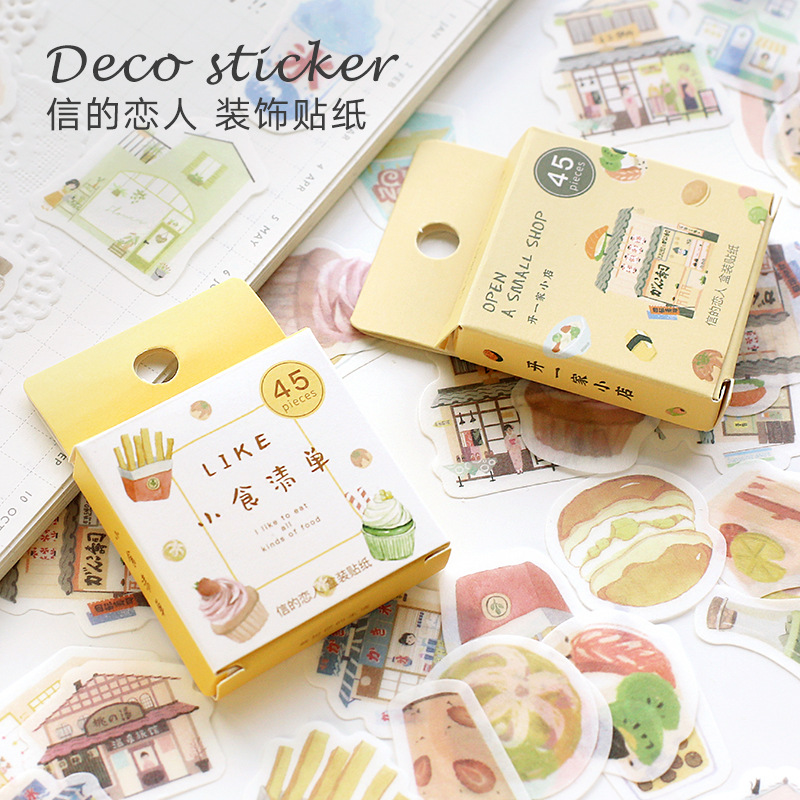 45pcs/pack Happy Camping Mini Paper Sticker Decoration Diy Ablum Diary Scrapbooking Label Sticker Kawaii Stationery