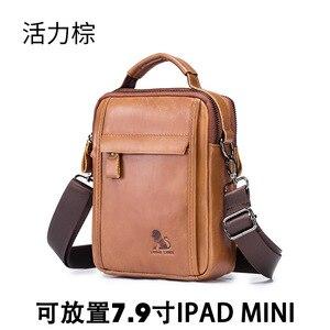 Image 5 - LAOSHIZI Новинка, мужская сумка через плечо из натуральной кожи для ipad mini 7,9 дюйма, высококачественные сумки мессенджеры, мужская сумка