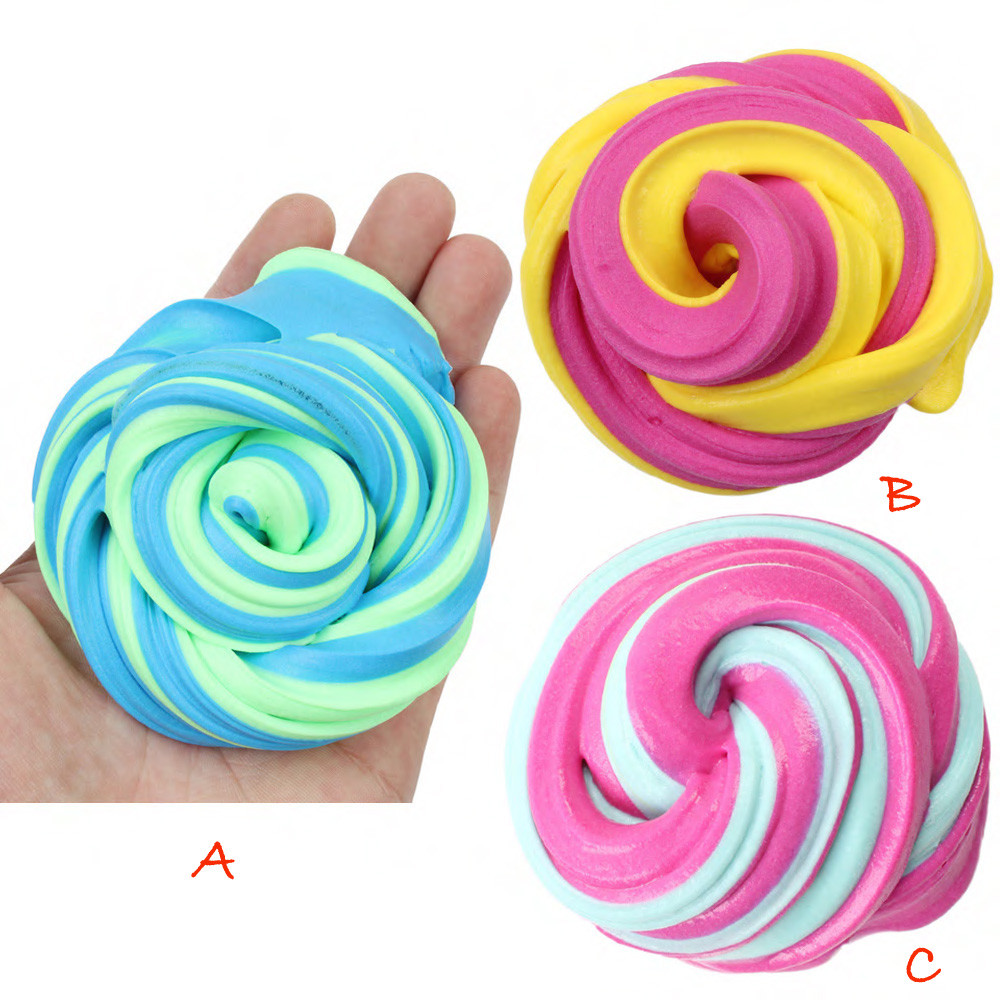 High Quality Colorful Cloud Slime Floam Scented Stress Relief  Antistress Sludge Cotton Mud Release Clay Toy  L1218