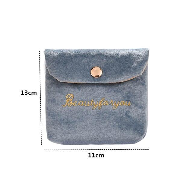 Купить женская мягкая бархатная косметичка с застежкой сумка для губной картинки