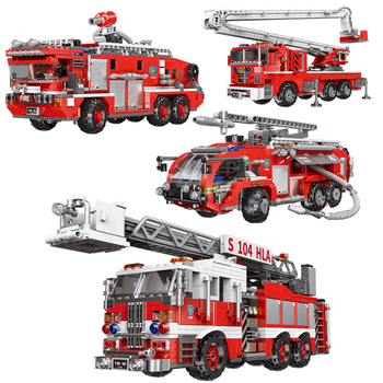 XINGBAO 03028/03029/03030/03031 City Fire Fighting Truck Series 4 Styles Fire Engine Building Blocks Ladder Truck Bricks Gifts 788pcs city fire command center engine ladder truck building blocks sets creator bricks playmobil educational toys for children