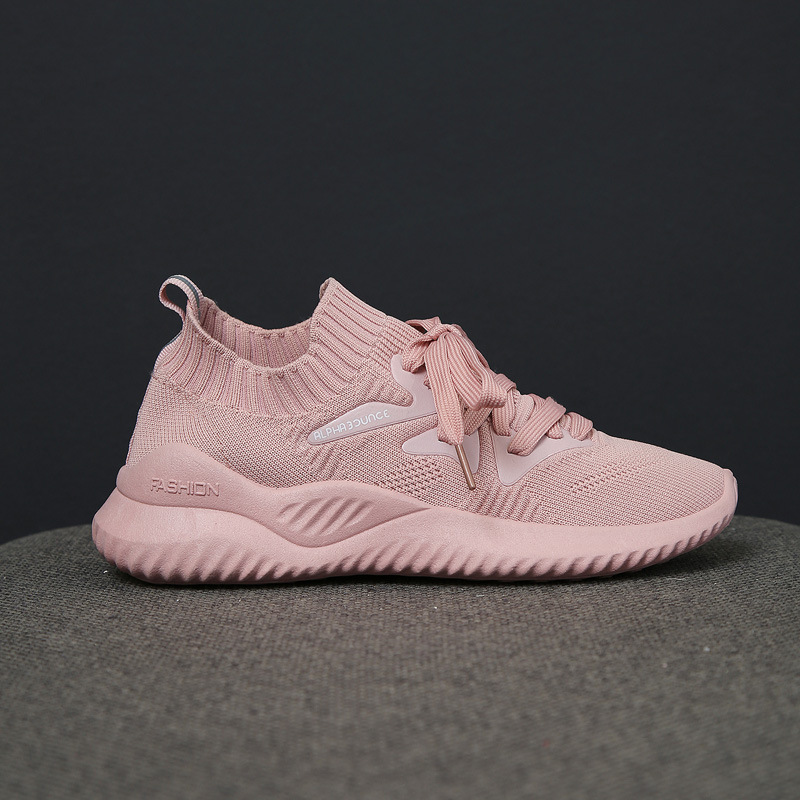 2020 Spring Breathable Women Sneakers Designer Mesh air Light Casual Shoes lace up white/black/pink Woman Running Shoe 1H03