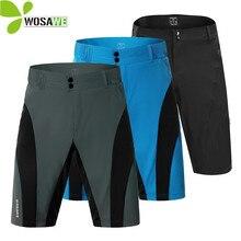 купить WOSAWE Elastic Side Pocket Cycling Shorts Men Water Repellent No Pad Mountain Bike Short Pants Breathable Downhill Sports Shorts дешево