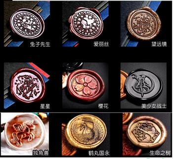 Stamp head of Alice Sailor Moon Star Telescope blossom Retro Wood Stamp Sealing Wax Seal Stamp Wedding Decorative sealing Stamp фото