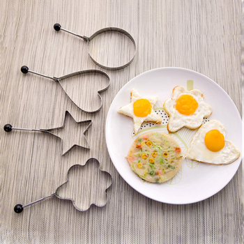 5Style Stainless Steel Fried Egg Pancake Shaper Omelette Mold Mould Frying Egg Cooking Tools Kitchen Accessories Gadget Rings image