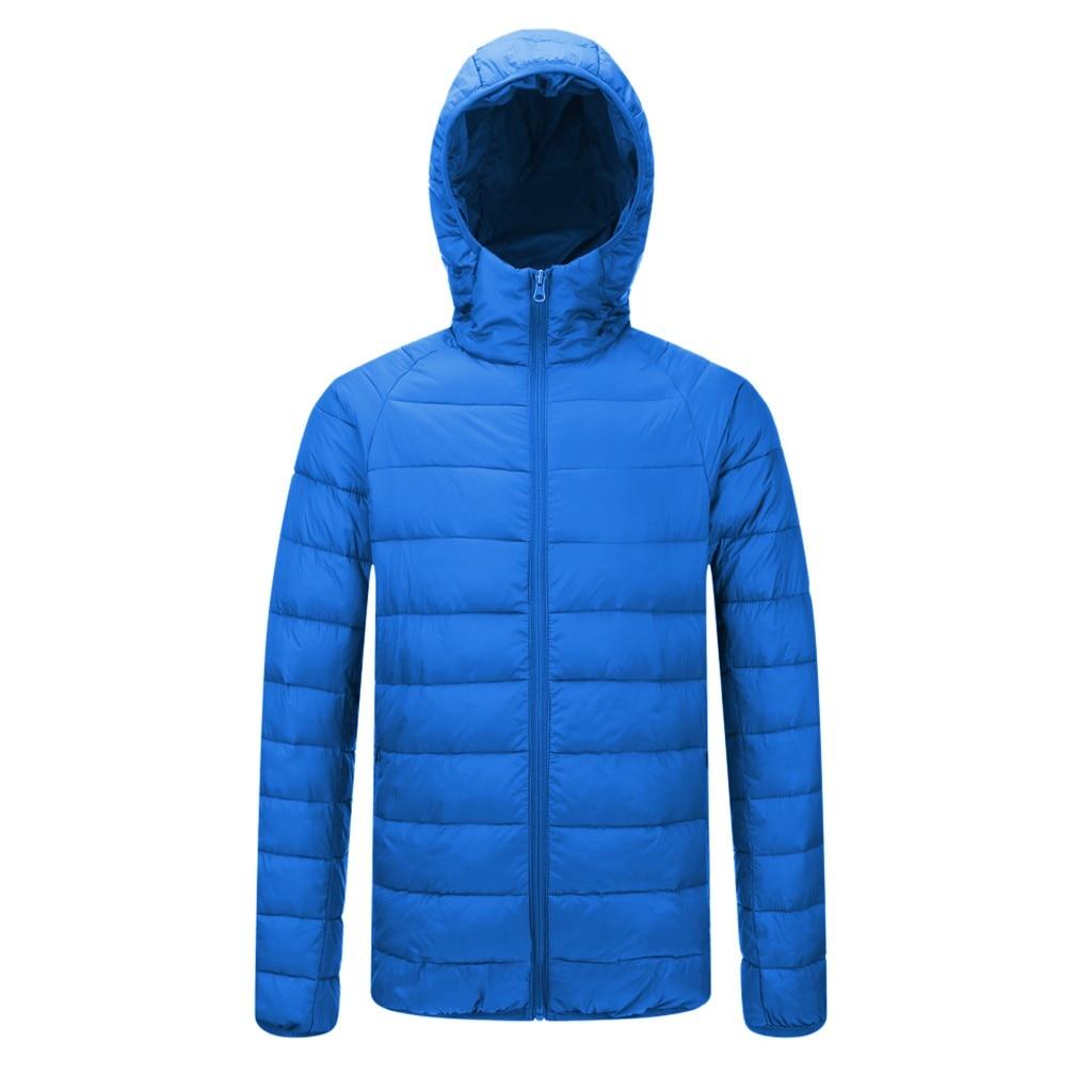 Hbe562ab512e54c928b9e376f54104dfdk Jacket Men Autumn Winter Style Light Weight Overcoat Outerwear Coats Cotton Warm Hooded Men's Jacket Coat chaqueta hombre S-2XL