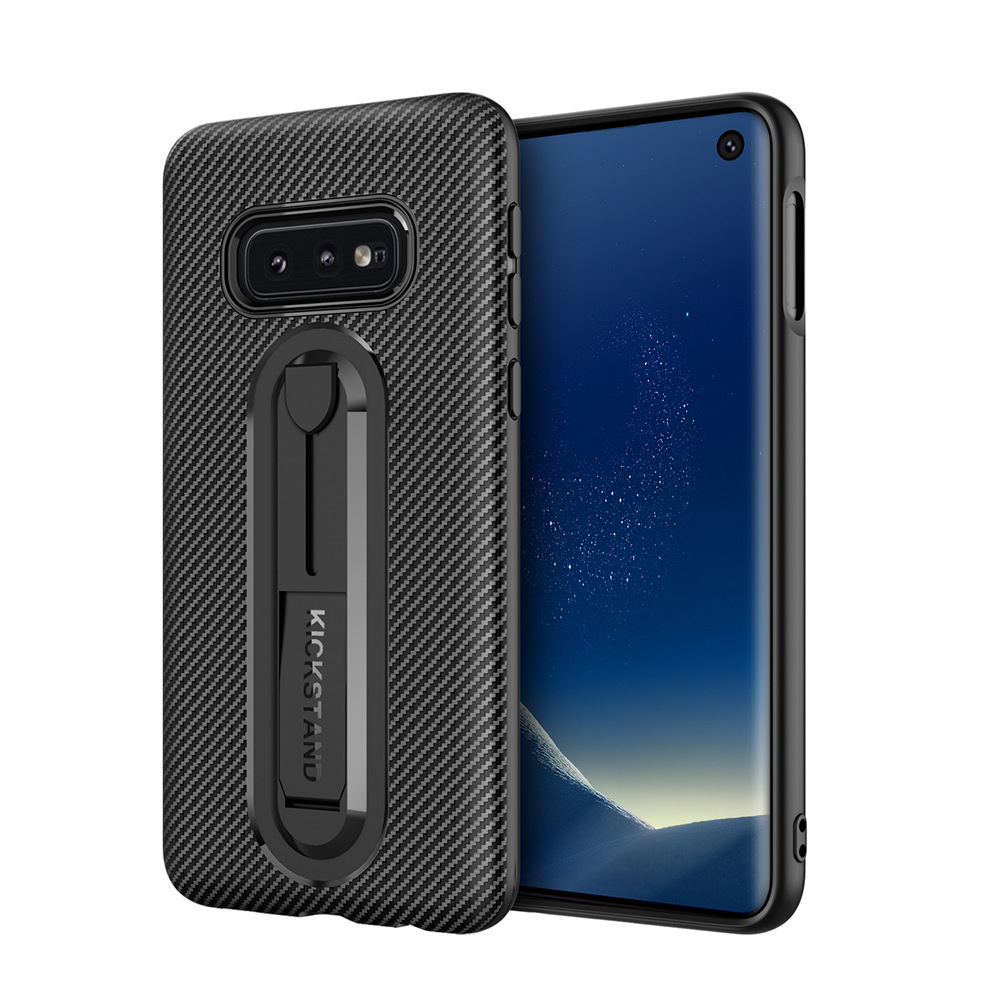 Case For Samsung Note10 Plus S10 Plus S10e Note9 Note8 S8 S9 A7 A9 Cover Carbon Fiber Ring Stand Capa Soft Slim Shockproof Funda