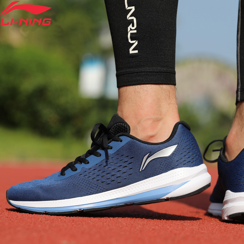 Li-Ning Men REACTOR Cushion Running Shoes Wearable Anti-Slippery LiNing Li Ning Light Weight Sport Shoes Sneakers ARHN047 XYP759